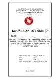 Khóa luận tốt nghiệp: Tìm hiểu tác động của văn hoá đến việc kinh doanh của một số công ty xuyên quốc gia (TNCs) và bài học kinh nghiệm cho doanh nghiệp Việt Nam