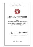 Khóa luận tốt nghiệp: Phát triển tín dụng xuất khẩu tại ngân hàng thương mại cổ phần xuất nhập khẩu Việt Nam