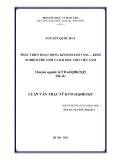 Luận văn Thạc sĩ Quản trị kinh doanh: Phát triển hoạt động kinh doanh vàng - kinh nghiệm thế giới và bài học cho Việt Nam