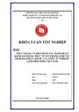 Khóa luận tốt nghiệp: Thực trạng và biện pháp đẩy mạnh hoạt động bán hàng trực tuyến trong lĩnh vực kinh doanh lữ hành của công ty TNHH du lịch Bình Minh Việt Nam