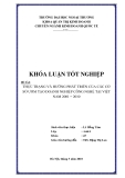 Khóa luận tốt nghiệp: Thực trạng và hướng phát triển của các cơ sở ươm tại doanh nghiệp công nghệ tại Việt Nam 2001-2010