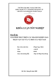 Khóa luận tốt nghiệp: Giải pháp phát triển các doanh nghiệp giao nhận vận tải vừa và nhỏ của Việt Nam