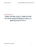 Báo cáo thực tập: Nghiên cứu thực trạng về chính sách thù lao cho lực lượng bán hàng tại công ty cổ phần gạch men Cosevco