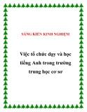 SKKN: Việc tổ chức dạy và học Tiếng Anh trong trường THCS