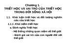 Bài giảng Triết học - Chương 1