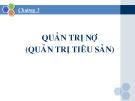 Bài giảng Quản trị ngân hàng: Chương 3 - PGS, TS. Trần Huy Hoàng