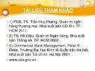 Bài giảng Quản trị ngân hàng: Chương 1 - PGS, TS. Trần Huy Hoàng