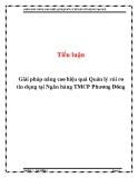 Tiểu luận: Giải pháp nâng cao hiệu quả Quản lý rủi ro tín dụng tại Ngân hàng TMCP Phương Đông