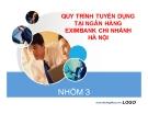 Tiểu luận: Quy trình tuyển dụng tại ngân hàng Eximbank chi nhánh Hà Nội