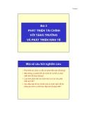 Bài giảng Tài chính phát triển -  Bài 2