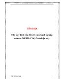 Tiểu luận nghiệp vụ ngân hàng thương mại: Cho vay kích cầu đối với các doanh nghiệp của các NHTM ở Việt Nam hiện nay