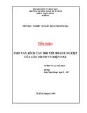 Tiểu luận: Cho vay kích cầu đối với các doanh nghiệp của các NHTM Việt Nam hiện nay