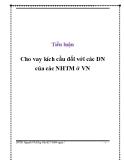 Tiểu luận: Cho vay kích cầu đối với các DN của các NHTM ở Việt Nam