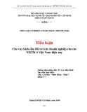 Bài tập cá nhân: Cho vay kích cầu đối với các doanh nghiệp của các NHTM ở Việt Nam hiện nay