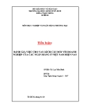 Tiểu luận: Đánh giá việc cho vay kích cầu đối với doanh nghiệp của các ngân hàng ở Việt Nam hiện nay