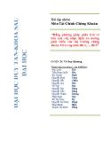 Bài tập nhóm Môn Tài Chính Chứng Khoán: Bằng phương pháp phân tích cơ bản anh chị nhận định xu hướng phát triển của thị trường chứng khoán VN trong năm 2012, … 2015