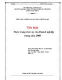 Tiểu luận: Thực trạng cho vay của Doanh nghiệp trong năm 2008