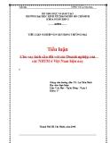 Tiểu luận nghiệp vụ ngân hàng thương mại: Cho vay kích cầu đối với các Doanh nghiệp của các NHTM hiện nay