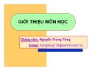 Bài giảng Hóa lý:  Chương 1 - GV. Nguyễn Trọng Tăng