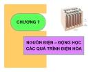Bài giảng Hóa lý: Chương 7 - GV. Nguyễn Trọng Tăng