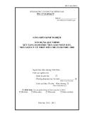SKKN: Xây dựng quy trình xét tặng danh hiệu nhà giáo nhân dân, nhà giáo ưu tú theo tiêu chuẩn ISO 9001: 2008