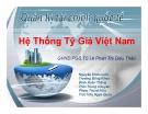 Bài thuyết trình Quản trị tài chính quốc tế: Hệ thống tỷ giá Việt Nam