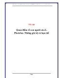 Tiểu luận: Quan điểm về con người của L. Phoi obac. Những giá trị và hạn chế