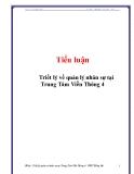 Tiểu luận: Triết lý về quản lý nhân sự tại Trung Tâm Viễn Thông