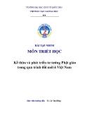 Tiểu luận: Kế thừa và phát triển tư tưởng Phật giáo trong quá trình đổi mới ở Việt Nam