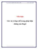 Tiểu luận: Giá trị và hạn chế trong phép biện chứng của Hegel