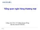 Chuyên đề Tổng quan ngân hàng thương mại -  PGS.TS. Trương Quang Thông