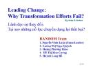 Bài thuyết trình Leading Change: Why Transformation Efforts Fail