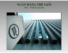 Báo cáo môn học Tài chính quốc tế: Ngân hàng thế giới