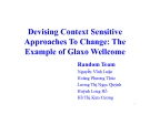 Bài thuyết trình: Devising Context Sensitive Approaches To Change: The Example of Glaxo Wellcome