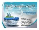 Bài thuyết trình: Ecommerce Security - An ninh mạng/ Bảo mật trong thương mại điện tử