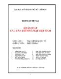 Báo cáo đề tài: Khái quát cán cân thương mại Việt Nam