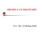 Bài giảng Sức bền vật liệu: Chương 5 - GVC.ThS. Lê Hoàng Tuấn