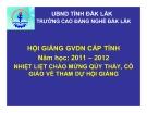 Bài giảng Sửa chữa và bảo dưỡng máy khởi động - CĐ Nghề Đăk Lắk