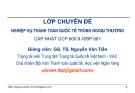 Bài giảng Thanh toán quốc tế trong ngoại thương: Bài 1 - GS.TS. Nguyễn Văn Tiến