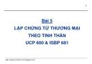Bài giảng Thanh toán quốc tế trong ngoại thương: Bài 5 - GS.TS. Nguyễn Văn Tiến