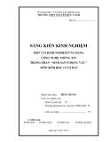 """SKKN: Một vài kinh nghiệm ứng dụng công nghệ thông tin trong phần """"Sinh sản ở  động vật """" môn Sinh học 11 cơ bản"""