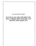 SKKN: Xây dựng ma trận đề kiểm tra trắc nghiệm môn Sinh học 12 ở trường THPT Kiệm Tân