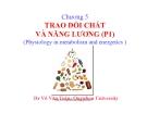Bài giảng Chương 5: Trao đổi chất và năng lượng - Dr Võ Văn Toàn