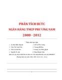 Tiểu luận: Phân tích báo cáo tài chính ngân hàng TMCP Phương Nam 2008 - 2012