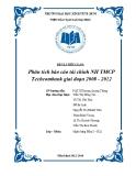 Tiểu luận: Phân tích báo cáo tài chính NH TMCP Techcombank giai đoạn 2008 - 2012