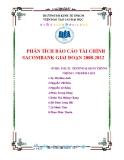 Tiểu luận: Phân tích báo cáo tài chính Sacombank giai đoạn 2008-2012