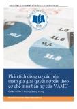 Tiểu luận: Phân tích động cơ các bên tham gia giải quyết nợ xấu theo cơ chế mua bán nợ của VAMC