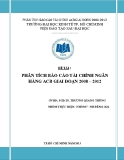 Tiểu luận: Phân tích báo cáo tài chính ngân hàng ACB giai đoạn 2008 – 2012