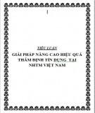 Tiểu luận: Giải pháp nâng cao hiệu quả thẩm định tín dụng tại Ngân hàng thương mại Việt Nam