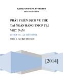 Tiểu luận: Phát triển dịch vụ thẻ tại ngân hàng TMCP tại Việt Nam